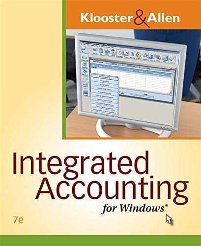 Integrated Accounting for Windows (Mixed media product): Dale Klooster, Warren W Allen