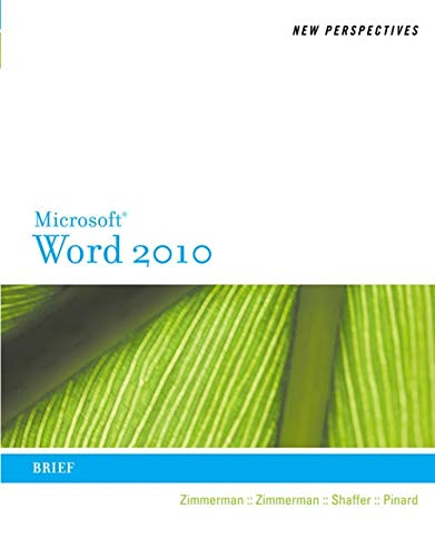 9780538748964: New Perspectives on Microsoft Word 2010: Brief (Available Titles Skills Assessment Manager (SAM) - Office 2010)