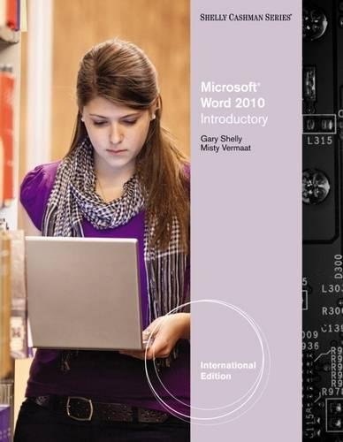 9780538750028: Microsoft® Word 2010: Introductory, International Edition