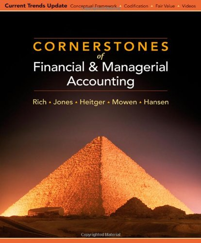 Cornerstones of Financial and Managerial Accounting, Current: Jay Rich, Jeff