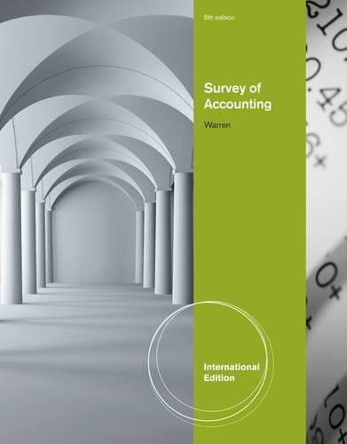 Survey of Accounting: Warren, Carl S.