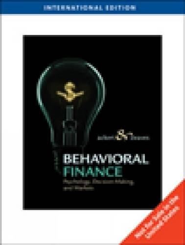 9780538752862: Behavioral Finance: Psychology, Decision-Making, and Markets