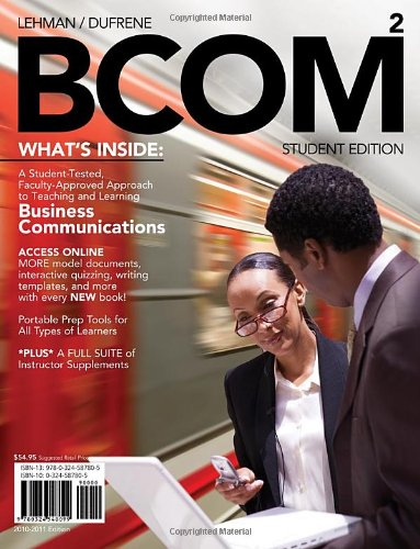 BCOM 2 (with Review Cards and Printed: Carol M. Lehman,