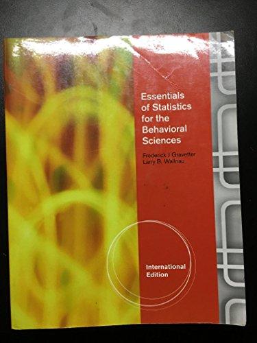 9780538754965: Essentials Of Statisticsthe Behavioral Sciences,7Ed