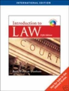 9780538758024: Introduction to Law, International Edition (Fifth Edition)