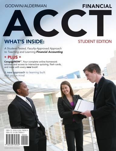 9780538798969: Financial ACCT: 2010 Student Edition (with CengageNOW, eResources Premium Web Site Printed Access Card and Prep Cards)