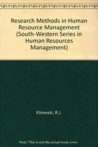 9780538802468: Research Methods in Human Resources Management