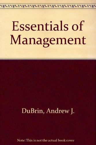 9780538804950: Essentials of Management