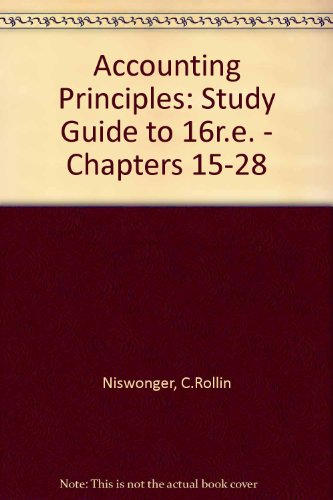 ACCT PRINC: STUDY GUIDE, CHAPTERS 15-28 (AB-ACCOUNTING PRINCIPLES)
