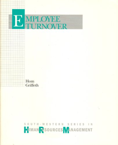 9780538808736: Employee Turnover (Human resource management series)