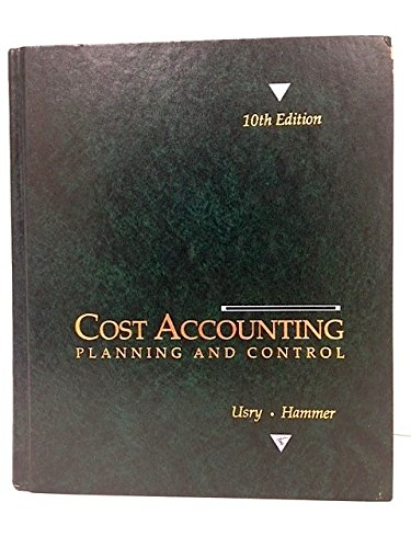 9780538809252: Cost Accounting: Planning and Control