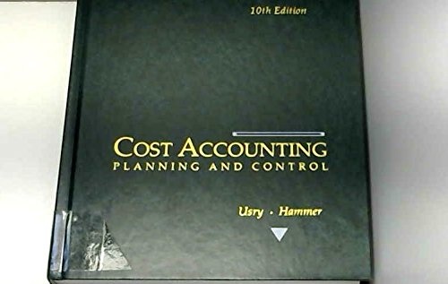 9780538809252: Cost Accounting - planning and control