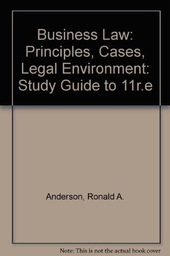 9780538812719: Business Law: Principles, Cases, Legal Environment: Study Guide to 11r.e