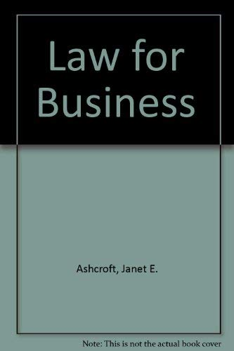9780538812788: Law for Business
