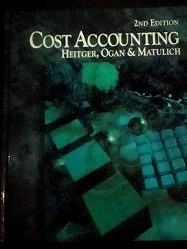Cost Accounting: Les Heitger, Pekin