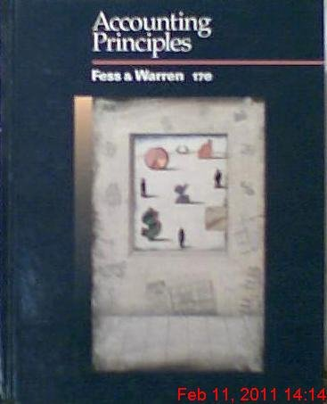Accounting Principles: Philip E. Fess,