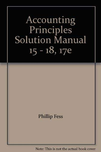 solutions manual for accounting principles - AbeBooks