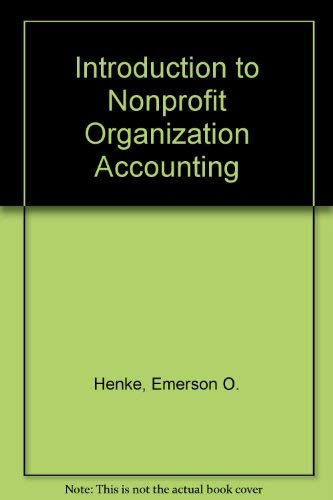9780538821827: Introduction to Nonprofit Organization Accounting