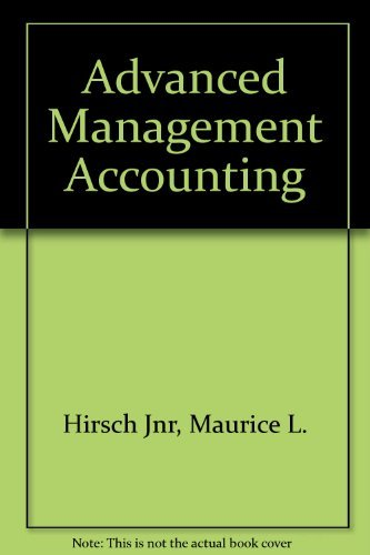 9780538825351: Advanced Management Accounting