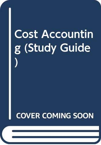 9780538828093: Cost Accounting (Study Guide)