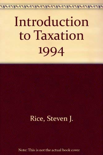 9780538828901: Introduction to Taxation