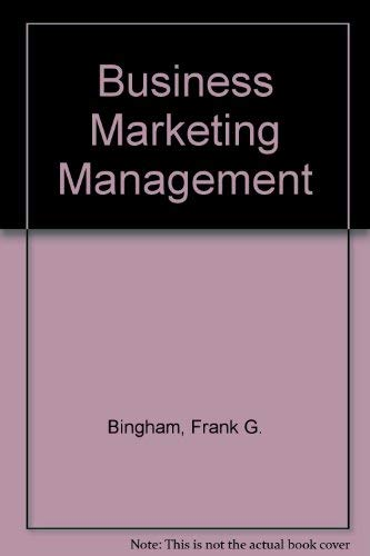 9780538836784: Business Marketing Management