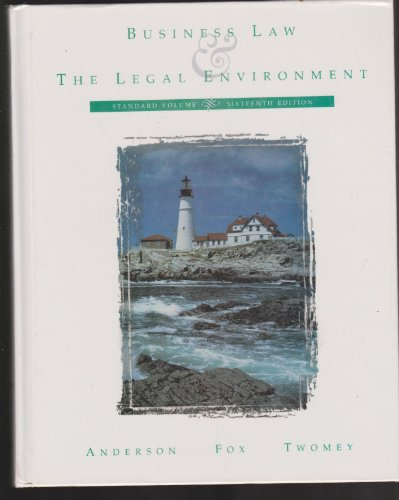 9780538845427: Business Law and the Legal Environment, Standard Volume