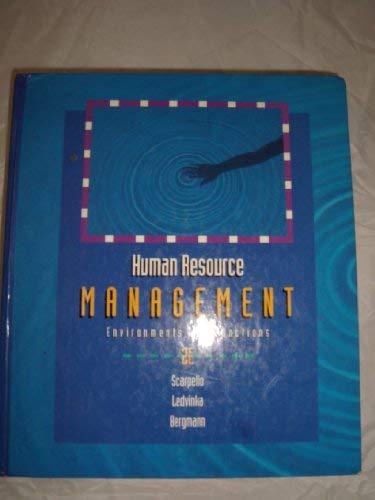 Human Resource Management: Environments and Functions: Bergmann, Thomas J.,