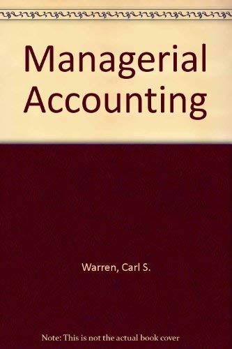 9780538853422: Managerial Accounting