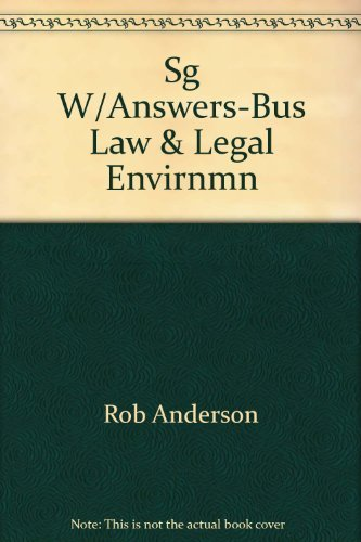 9780538862004: Study guide w/Answers for Business Law & Legal Environment