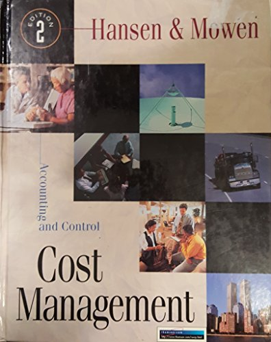 Stock image for Cost Management: Accounting And Control for sale by OwlsBooks