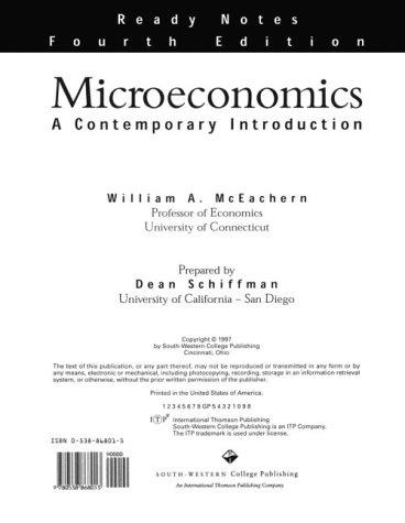 Microeconomics: A Contemporary Introduction: McEachern, William A.