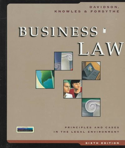 9780538868563: Business Law: Principles and Cases in the Legal Environment
