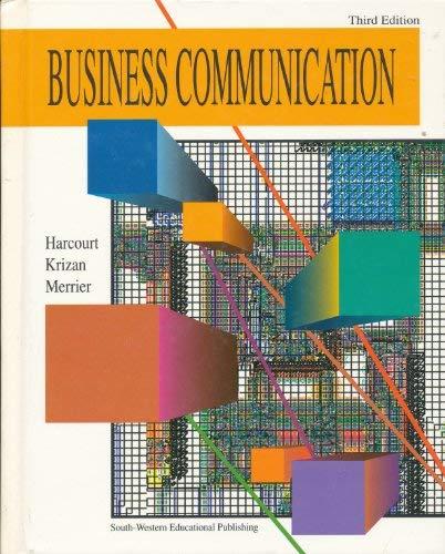 Business Communication: Jules Harcourt, A.