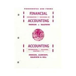 Financial Accounting : Information for Decisions, 3E: Ingram, Robert W.,