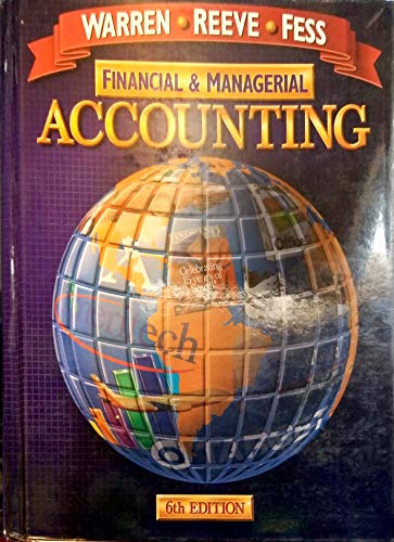 9780538873543: Financial and Managerial Accounting