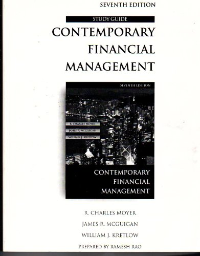 9780538877855: Study Guide for Contemporary Financial Management