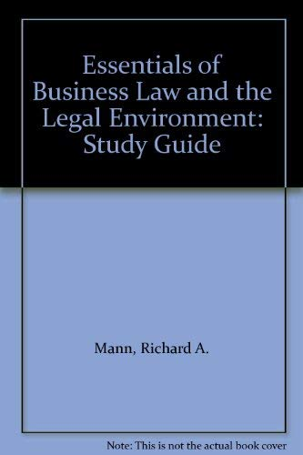 9780538878791: Study Guide w/Answers and w/Quicken Business Law Partner CD-ROM for Essentials of Business Law & the Legal Environment