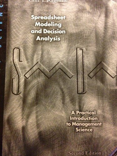 9780538881302: Spreadsheet Modeling and Decision Analysis: A Practical Introduction to Management Science
