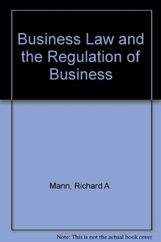9780538885621: Study Guide for Business Law and the Regulation of Business