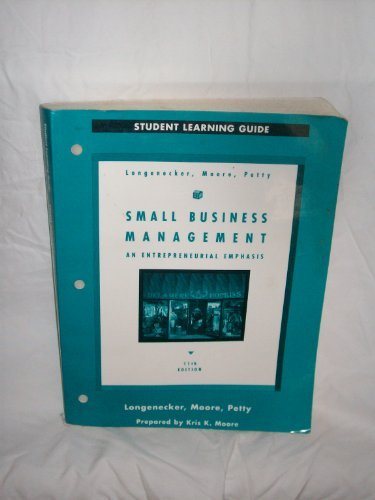 Student Learning Guide for Small Business Management: Longenecker, Justin G.