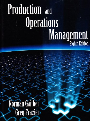 9780538891080: Production and Operations Management