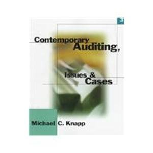 9780538891172: Contemporary Auditing Issues and Cases