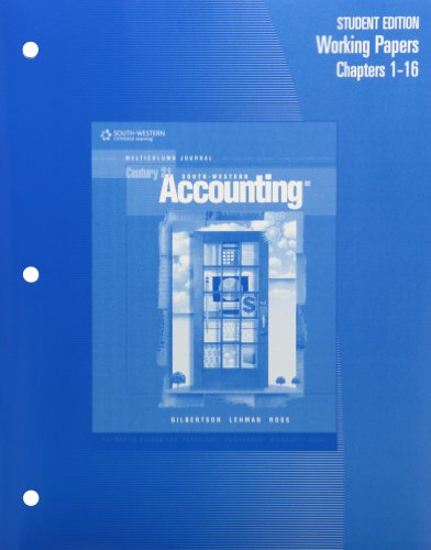 9780538972826: Century 21 Accounting Multicolumn Journal (Blue Text) Working Papers: Chapters 1-24 (Complete), Eighth Edition