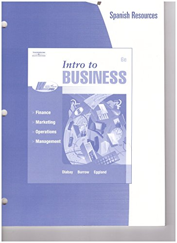 9780538973878: Intro to Business (Spanish Resources)