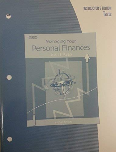 9780538974059: Managing your Personal Finances, Instructor's Edition, Tests