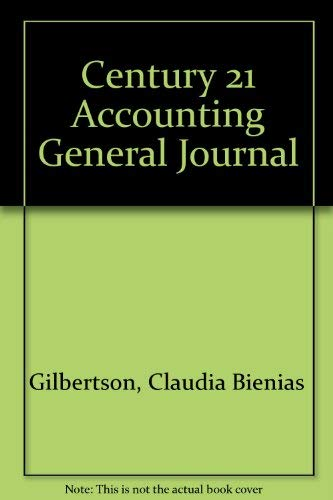 9780538974189: Century 21 Accounting General Journal