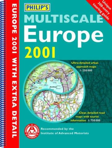9780540079438: Philip's Multiscale Europe (Road Atlas)