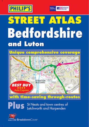9780540082933: Philip's Street Atlas Bedfordshire: Pocket