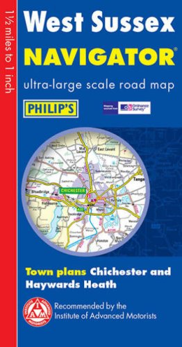 9780540084036: Philip's Navigator Road Map West Sussex